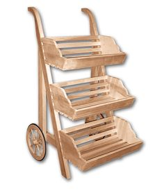 Rustic Upright Display Cart