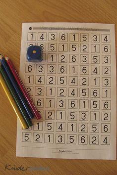 Spielen Lernen Mit Wuerfeln 4 Gewinnt Voleta P Mathe Fur Vorschulkinder Mathe Montessori Mathe