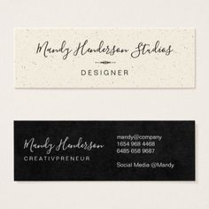 Trendy Speckled and Lux Mini Business Card - stylist business card business cards cyo stylists customize personalize