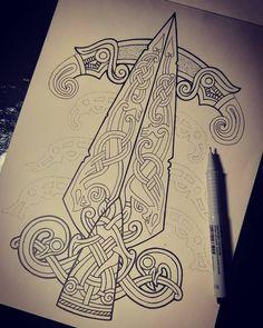 odin tattoo for women ; Druid Symbols, Viking Symbols, Viking Art, Viking Runes, Love Symbols, Viking Knotwork, Rune Tattoo, Norse Tattoo, Celtic Tattoos