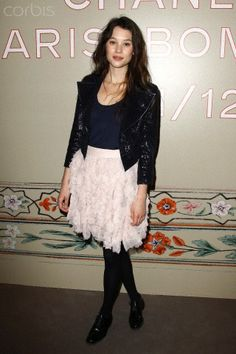 French actress Astrid Berges-Frisbey poses during a photocall before the Bombay-Paris theme Metiers D'Art Show by German designer Karl Lagerfeld for French fashion house Chanel in Paris December 6, 2011. The show, which has existed since 2003, is a homage to Chanel workshops. REUTERS/Benoit Tessier