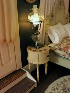 Antique drum nightstands - one down, one to go