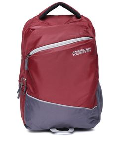 Buy AMERICAN TOURISTER Unisex Maroon Solid Backpack - Backpacks for Unisex | Myntra