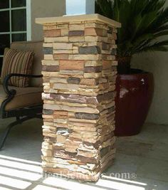 What I want for our front porch columns maybe even back deck with brick paver patio!