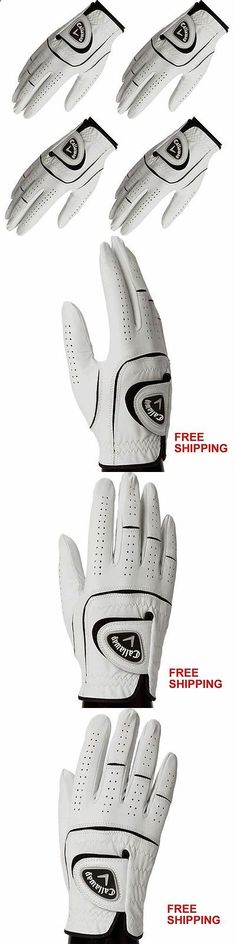 Golf Gloves 181135: Left Hand 4 Pack Mens Leather Golf Glove Cabretta Leather W/ Lycra Inserts New -> BUY IT NOW ONLY: $33.99 on eBay!