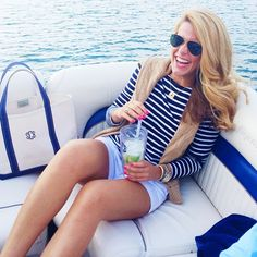 Navy based outfit with monograms! Sailor prep