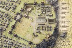 My map of Blackcliff Academy, illustrated for Sabaa Tahir's Ember in the Ashes novel.