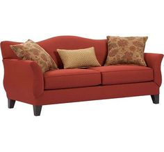 Rust coloured couch