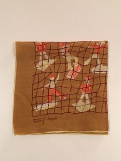 Vintage Tammis Keefe 'Aloft' Handkerchief by CobbledStreets