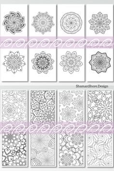 #ShShPrintables Mandala coloring pages for grown ups | Printable mandala coloring book for adults on Etsy | anti-stress coloring pages download