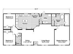 The Bonanza VR32643A -  3 Bedrooms, 2 Baths, 1,984 Sq. Ft. - double wide manufactured home by Palm Harbor Homes