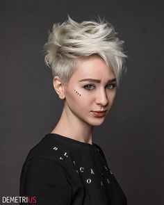 The short pixie haircut is as yet hot and getting one is the ideal method to emerge from the group. Here are 26 pixie haircuts you should see are going to be a year to take and bring a bang to hairstyles that are stylish and appealing. Short Pixie Haircuts, Pixie Hairstyles, Undercut Pixie Haircut, Short Grey Hair, Short Hair Cuts, Blonde Pixie Cuts, Stylish Haircuts, Corte Y Color, My Hairstyle