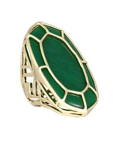 Paulina Cocktail Ring in Green. #KendraScott