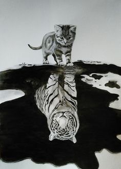 """someday"" may come sooner than we think . Lion Drawing, Baby Drawing, Cool Art Drawings, Pencil Drawings, Lion Spirit Animal, Metamorphosis Art, Tiger Artwork, Cool Pixel Art, Baby Animal Drawings"