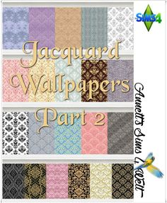 Annett's Sims 4 Welt: Jacquard Wallpapers - Part 2