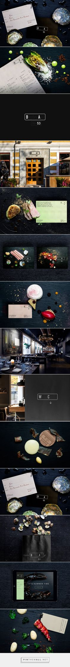 Modern Restaurant Branding Project for BA 53 by Nicklas Haslestad - created via https://pinthemall.net