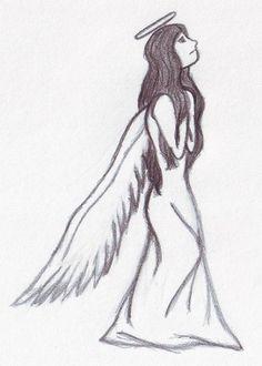 Sad angel drawing by me