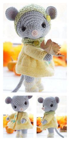 Crochet dolls 844987948824136661 - Source by clairehakimi Doll Patterns Free, Crochet Amigurumi Free Patterns, Crochet Animal Patterns, Crochet Doll Pattern, Stuffed Animal Patterns, Crochet Animals, Crochet Dolls, Stuffed Animals, Crochet Mouse