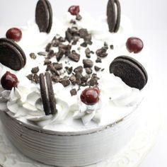 Chocolade taart met Oreo koekjes