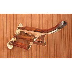 Brass & Wood Saddle Rack                                                                                                                                                                                 More