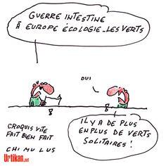 EELV menacé de scission après le départ de François de Rugy et Jean-Vincent Placé - Dessin du jour - Urtikan.net