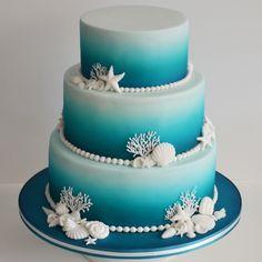 Image result for beach wedding cake