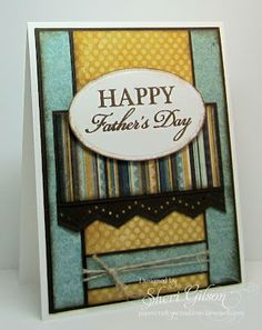 Father's Day card by Sheri Gilson using Verve Stamps.