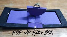 Wood Laser Ideas, Paper Art, Paper Crafts, Proposal Ring Box, Cute Birthday Gift, Gift Card Boxes, Wedding Ring Box, Diy Rings, Diy Box