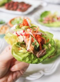 Lettuce Wraps with Five Spice Flank Steak and Peanut Sauce - Domesticate ME Clean Recipes, Cooking Recipes, Healthy Recipes, Healthy Meals, Thing 1, Boston, Dash Diet, Flank Steak, Peanut Sauce