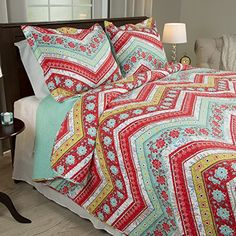 Lavish Home 3 Piece Zina Quilt Set, King