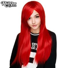 """Cosplay Wigs USA™ <br> Straight 70cm/28"""" - True Red -00343"""