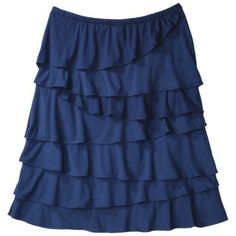 Merona® Women's Jersey Knit Ruffle Skirt - Assorted Colors