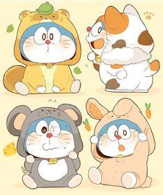 Doraemon so cute Cute Animal Drawings Kawaii, Cute Cartoon Drawings, Kawaii Drawings, Anime Chibi, Fanarts Anime, Doraemon Wallpapers, Cute Cartoon Wallpapers, Doremon Cartoon, Cute Chibi