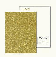 PhotoFrost Ultimate Edible Design Paper - Gold 12/pkg - Made in USA