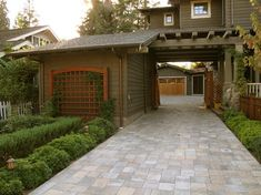 Porte cochere and trellis | Craftsman | Arts and Crafts | Bungalow