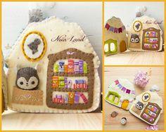 Mouse book shop and home activity book. Felt Board Patterns, Felt Quiet Books, Home Activities, Busy Book, Handmade Felt, Felt Christmas, Pdf Sewing Patterns, Felt Crafts, Craft Fairs