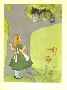 Image detail for -ALICE IN WONDERLAND, Vintage Children's Print, Marjorie Torrey ...
