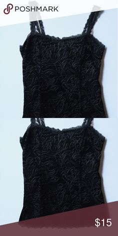 ef88419c5bfd WHBM Women's Lined Camisole New With Tags! Black velvet camisole lined and  has a padded