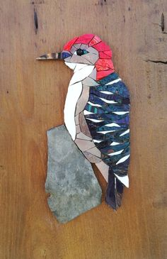 "Dimensions: 21 x 43 cm ""x and 6 cm ""). Inlay of a Venetian glass mosaic bird resting on a slate. Bring some nature into your home! Mosaic Artwork, Mosaic Wall Art, Mosaic Diy, Mosaic Garden, Mosaic Crafts, Mosaic Projects, Mosaic Glass, Mosaic Mirrors, Mosaic Ideas"