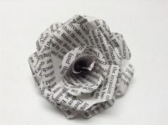 diy paper rose from book pages