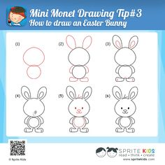 How To Draw An Easter Bunny Easter Kids Activities Pinterest
