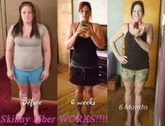 "I am writing this because I want to share with all of you my results and urge you to give Skinny Fiber a try. Don't wait like I did. With that guarantee, you really have nothing to lose except the pounds and inches. I was in a TIGHT size 14 and I now wear a size SIX! Do this for YOU! Let Skinny Fiber change your life like it has mine!!"" www.mrsmcgraw.sbc90.com"