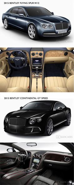 2015 #Bentley Flying Spur W12 and 2015 Bentley Continental GT Speed.