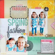 Fabulous Spring Fashion ~Scrapbook Circle~ by cornellgj @2peasinabucket