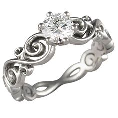 Love this engagement ring! It's so different. Symbolizes enternity.