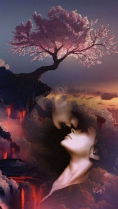 Saved by Celtic 🐉 Dragon Love You Images, Book Images, Love Photos, Beautiful Fantasy Art, Dark Fantasy Art, Fantasy Girl, Beautiful Romantic Pictures, Romantic Photos, Double Exposure Photography