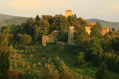 """Panzano in Chianti .. just a little tiny town perched on a hillside. We got a villa """"Il Torre"""" just outside of this town, the tower being from the year 1100."""
