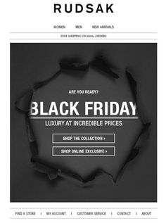 Hey! I'm a sucker for torn paper/revealed content. Feels vaguely gift-y as well. !!! Black Friday Email