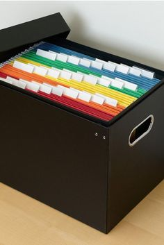 Get Your Papers in Order With These Must-Have Organizers – office organization at work cubicle Ikea Organization Hacks, Office Organization At Work, Folder Organization, Organizing Paperwork, Kitchen Organization Pantry, Clutter Organization, Container Organization, Planner Organization, Office Ideas