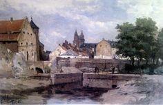 Zwanengracht in Maastricht. door Philip Sadee, 1885